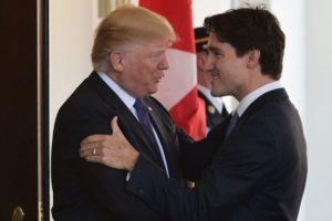 Justin Trudeau y Donald Trump