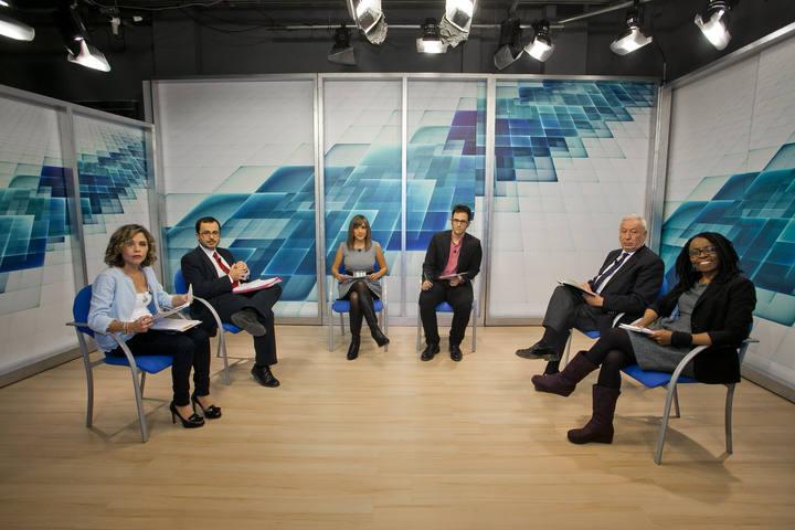 elecciones generales del 20-D los candidatos José Manuel García-Margallo (PP), Julián López Milla (PSOE), Rita Bosaho (Compromís-Podemos) y Marta Martín Llaguno (Ciudadanos). debate en informavcion tv