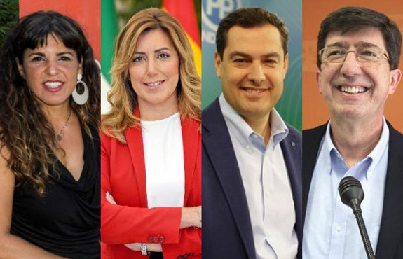 Principales candidatos a las elecciones andaluzas de 2018