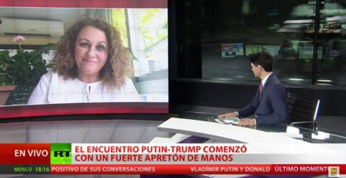 Sonia El Hakim en Russia Today