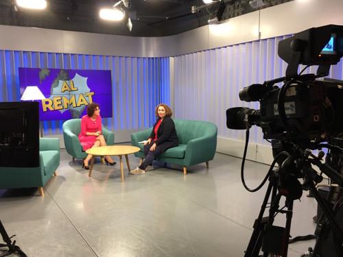 Sonia El Hakim con Pepa Gómez en LevanteTV
