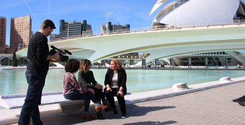 Grabando entrevista para documental de InformaciónTV