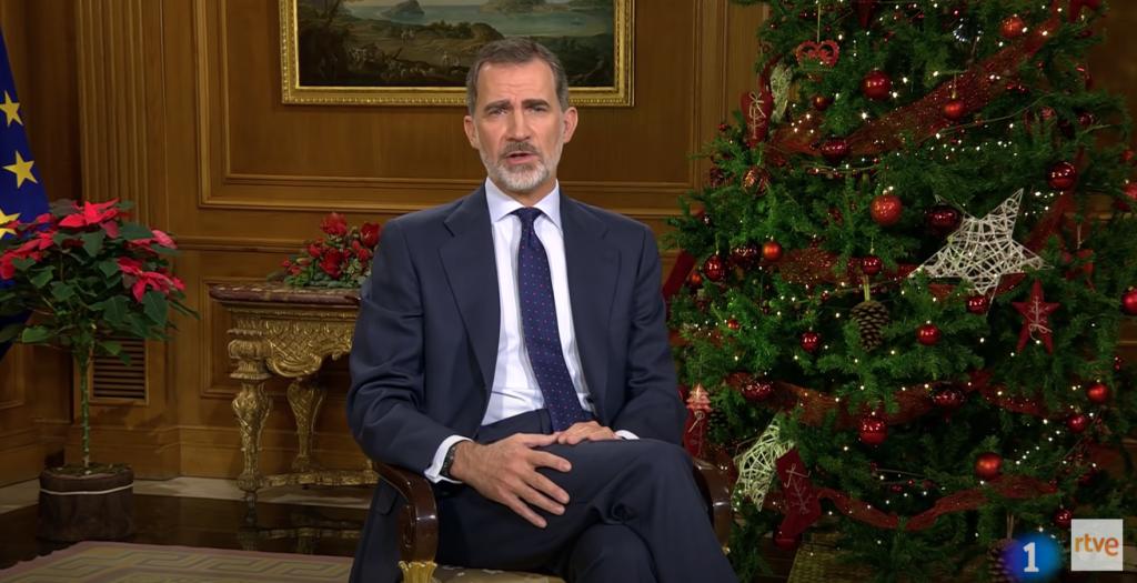 Imagen del discurso de Felipe VI de Navidad de 2019