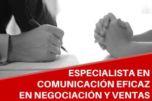 Curso Universitario de Especialización en Comunicación Eficaz en Negociación y Ventas
